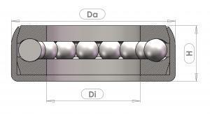Axial ball bearings DLG100
